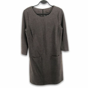 Peserico Wool Blend Shift Dress with Pockets